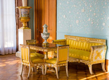 Interiors of halls in Vorontsov Palace in Alupka. Stock Images