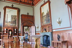 Interiors of halls in Vorontsov Palace in Alupka, Crimea. Stock Photos