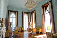 Interiors of halls in Vorontsov Palace in Alupka, Crimea. Vorontsov Palace is located in Alupka (Crimea) at the foot of Mount Ai-Petri Royalty Free Stock Photography