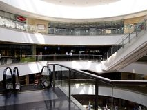 Interiors, hallways and stores inside the SM Megamall. Stock Images