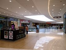 Interiors, hallways and stores inside the SM Megamall. Royalty Free Stock Images