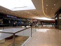 Interiors, hallways and stores inside the SM Megamall. Royalty Free Stock Photography
