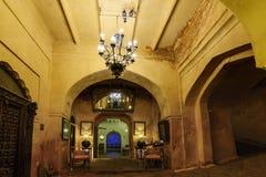 Interiors of a historic Rajputana castle in Rajasthan stock photos