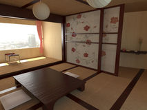Interiors in Japanese style Royalty Free Stock Photography