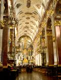 Interiors of Jasna Gora monastery in Czestochowa Royalty Free Stock Photo
