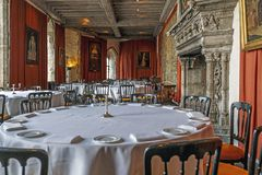 Interiors of Leeds Castle, UK royalty free stock images