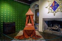 Interiors of Leeds Castle, UK stock images