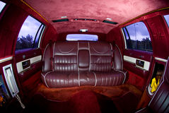 Interiors of limousine