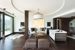 Interiors, living room. Architecture, modern house, beautiful interiors, living room Stock Photo