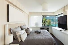 Interiors, luxury bedroom Royalty Free Stock Photography