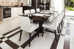 Interiors, luxury dining room Stock Image