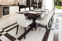 Interiors, luxury dining room Stock Image