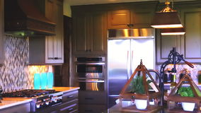 Interiors. Luxury interior of typical American suburban house stock video