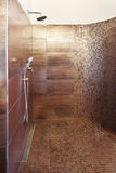 Interiors, luxury shower Royalty Free Stock Images