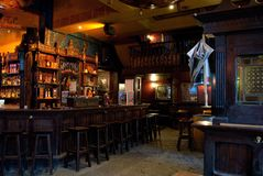 Antwerp - August 2010: Inside an Irish Pub on Groenplaats royalty free stock photos
