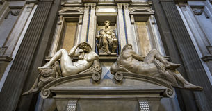Interiors of Medici chapel, Florence, Italy Stock Images