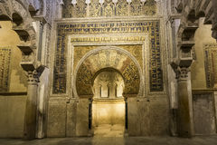 Interiors of the Mezquita in Cordoba Royalty Free Stock Photography