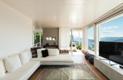 Interiors of a modern house royalty free stock images