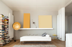 Interiors of a modern house royalty free stock image