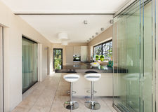 Interiors, modern kitchen Stock Photos