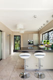 Interiors, modern kitchen Royalty Free Stock Photos