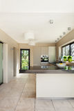 Interiors, modern kitchen Stock Images