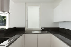 Interiors, modern kitchen Royalty Free Stock Images