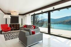 Interiors, modern living room Stock Photography