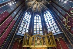Interiors of Notre dame d'Anvers cathedral, Anvers, Belgium Stock Photos
