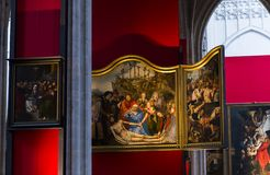 Interiors of Notre dame d'Anvers cathedral, Anvers, Belgium Royalty Free Stock Photo