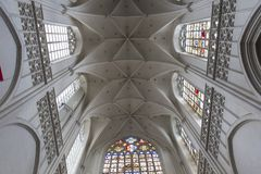 Interiors of Notre dame d'Anvers cathedral, Anvers, Belgium Royalty Free Stock Photography
