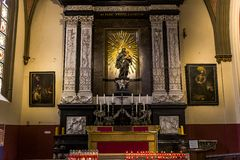 Interiors of Notre dame d'Anvers cathedral, Anvers, Belgium Stock Photo