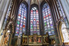 Interiors of Notre dame d'Anvers cathedral, Anvers, Belgium Royalty Free Stock Image