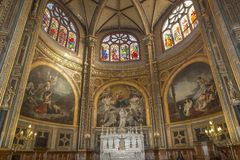 Interiors Of Saint Eustache Church, Paris, France Royalty Free Stock Images