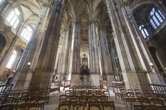Interiors Of Saint Eustache, Paris, France Stock Image
