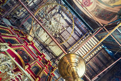 Interiors of an orthodox Cathedral under reconstruction Stock Photo