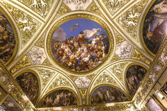 Interiors of Palazzo Pitti, Florence, Italy Royalty Free Stock Photos