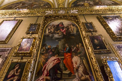 Interiors of Palazzo Pitti, Florence, Italy Royalty Free Stock Photography