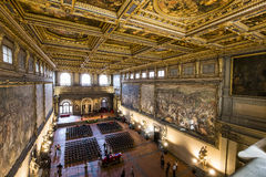 Interiors of Palazzo Vecchio, Florence, Italy Stock Photography