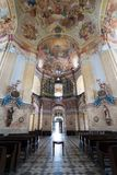 Interiors of Pilgrimage Church in Krtiny village Royalty Free Stock Images