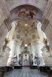 Interiors of Pilgrimage Church in Krtiny village Stock Image