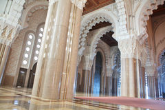 Interiors (praying hall) of the Mosque Royalty Free Stock Photo