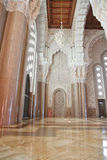 Interiors (praying hall) of the Mosque Royalty Free Stock Photography
