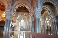 Interiors (praying Hall) Of The Mosque Of Hassan I Royalty Free Stock Photo