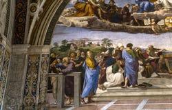 Interiors of Raphael rooms, Vatican museum, Vatican Stock Photography
