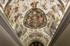 Interiors of Raphael rooms, Vatican museum, Vatican Royalty Free Stock Photos