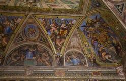 Interiors of Raphael rooms, Vatican museum, Vatican Stock Image