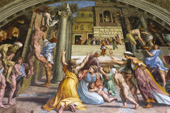 Interiors of Raphael rooms, Vatican museum, Vatican Royalty Free Stock Images