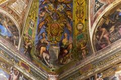 Interiors of Raphael rooms, Vatican museum, Vatican Stock Photos