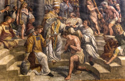 Interiors of Raphael rooms, Vatican museum, Vatican Royalty Free Stock Image